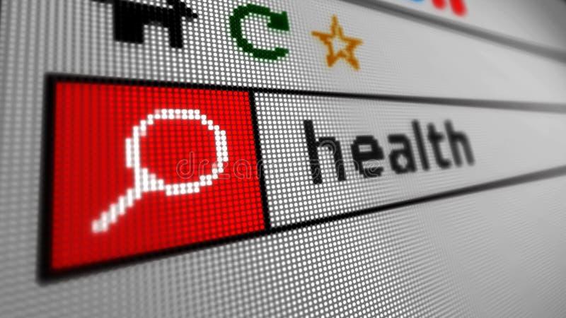 Искать здоровье интернета иллюстрация вектора