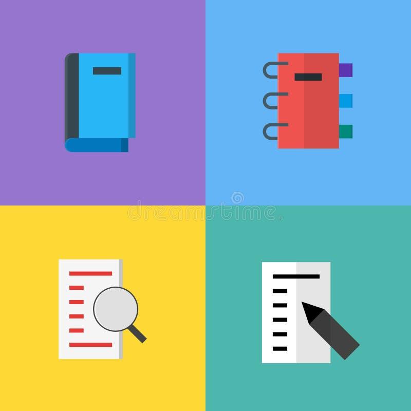 Искать значки вектора книги, исследование и знание, библиотеку бесплатная иллюстрация
