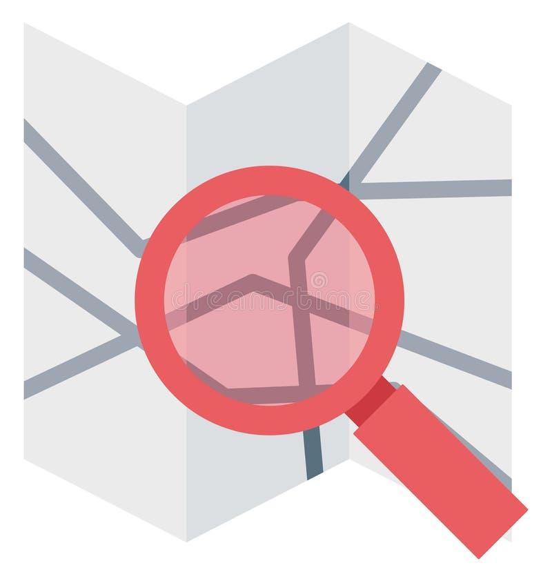 Искать значок вектора иллюстрации цвета карты бесплатная иллюстрация