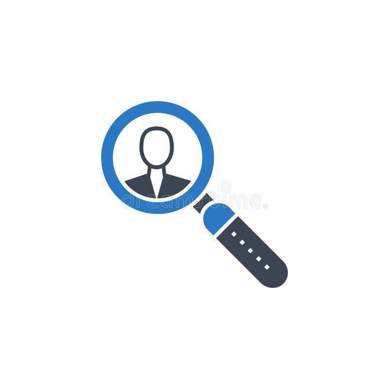 Искать значок глифа вектора работника родственный бесплатная иллюстрация