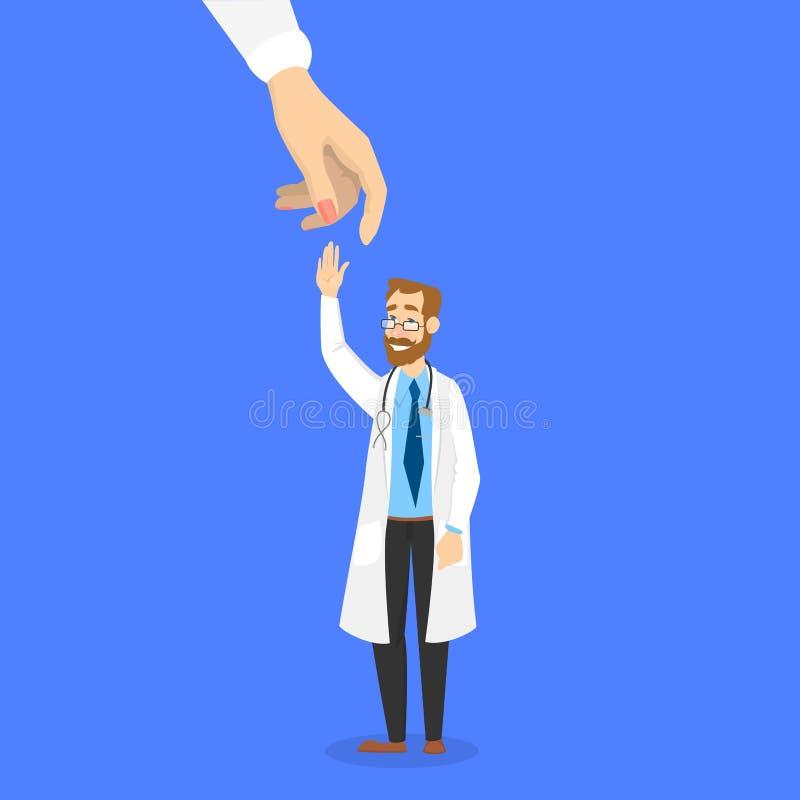 Искать концепции доктора Потребность работника больницы иллюстрация вектора