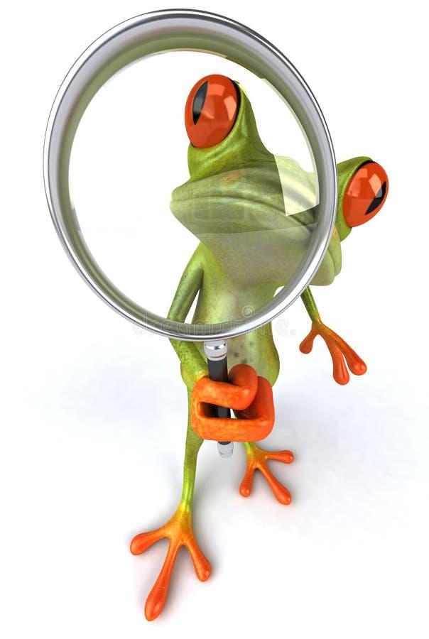 искать лягушки иллюстрация вектора