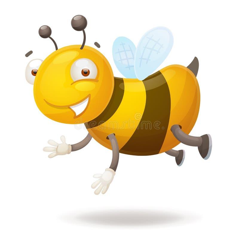 искать меда мухы пчелы милая к иллюстрация вектора