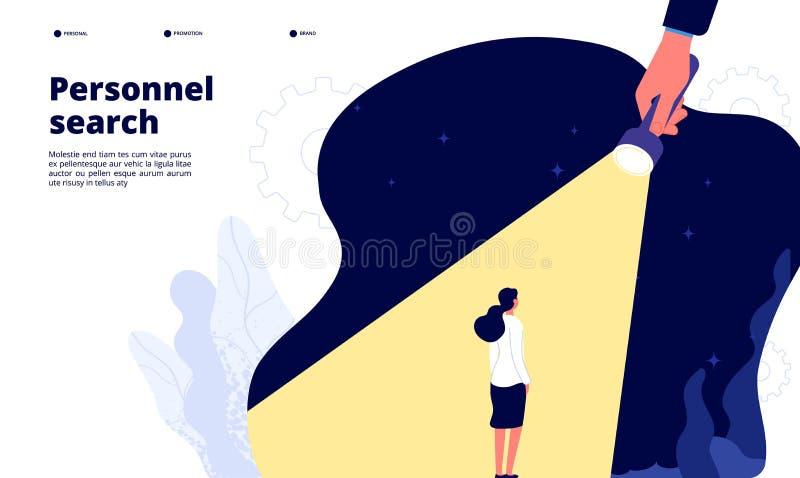 Искать талант Уникальный талантливый завербовывать работников Мы нанимать, headhunting Возможность руководства женщины бесплатная иллюстрация