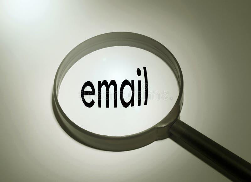 Искать электронную почту стоковое изображение rf