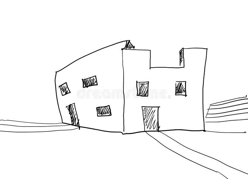 Исключительный дом иллюстрация вектора