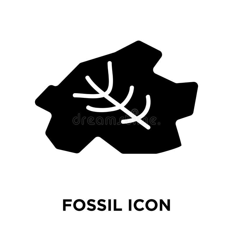 Ископаемый вектор значка изолированный на белой предпосылке, концепции логотипа  иллюстрация штока