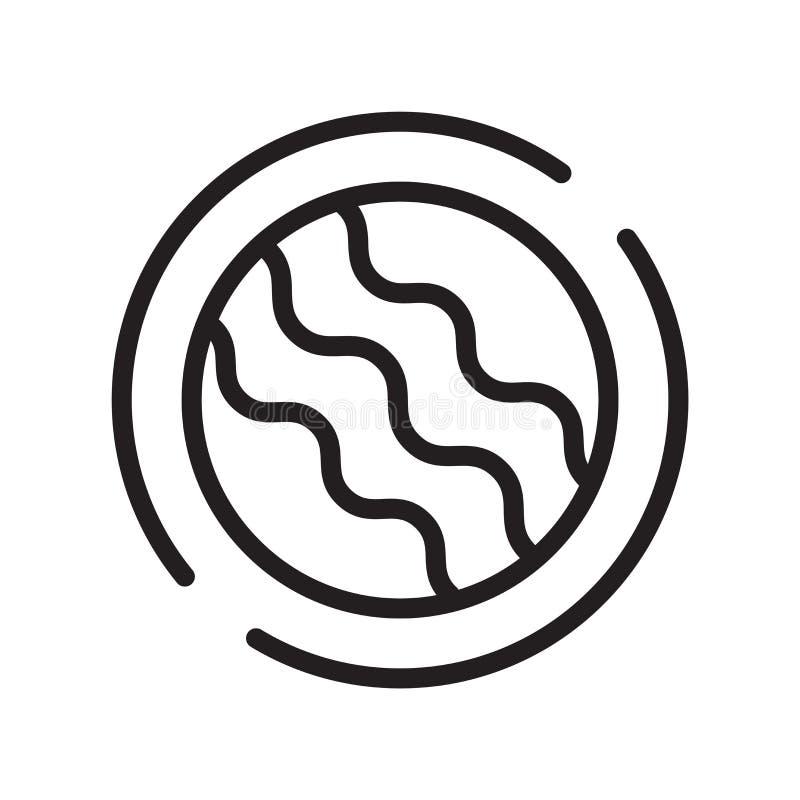 Ископаемый вектор значка изолированный на белой предпосылке, ископаемом знаке, линии символе или линейном дизайне элемента в стил иллюстрация штока