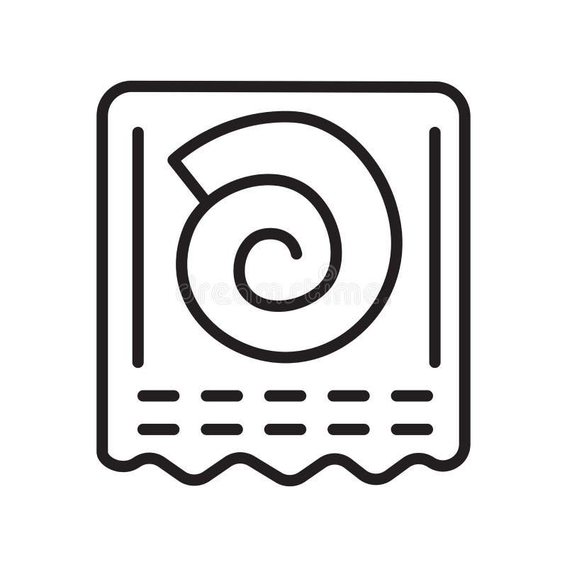 Ископаемый знак и символ вектора значка изолированные на белой предпосылке иллюстрация вектора