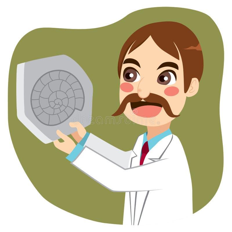 Ископаемый ученого бесплатная иллюстрация