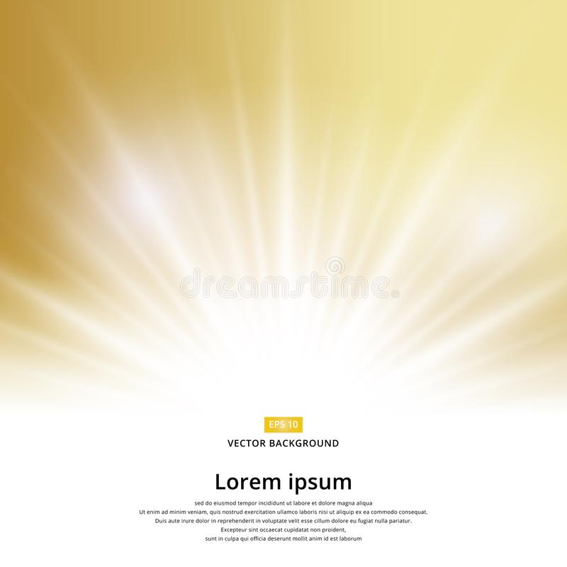 Искра влияния солнечного света на предпосылке золота с космосом экземпляра бесплатная иллюстрация