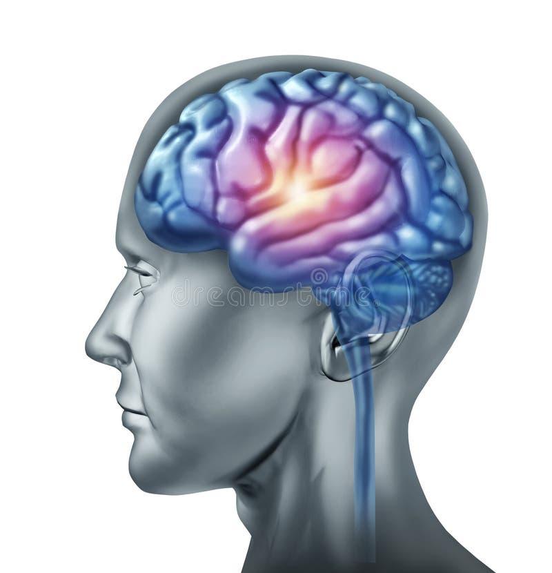 искра гения мозга иллюстрация вектора