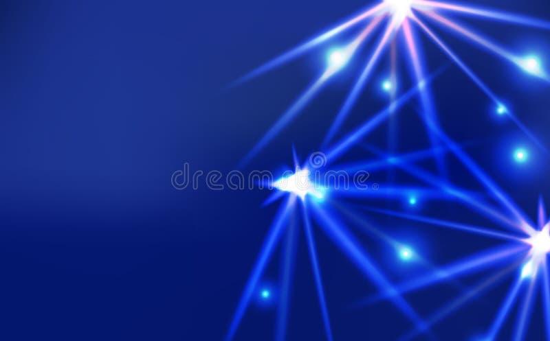 Искра светлого яркого влияния сияющая, ультрафиолетов неоновое abst концепции бесплатная иллюстрация