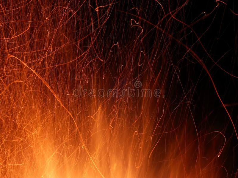 искры пламени стоковое фото