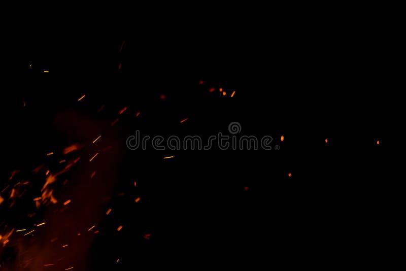 Искры пожара стоковое изображение rf