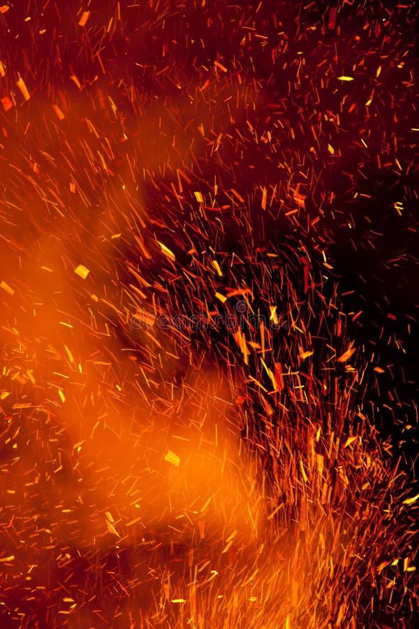 искры пожара стоковая фотография rf