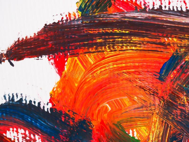 Искусства крася воду предпосылки абстрактную акриловый стоковая фотография rf