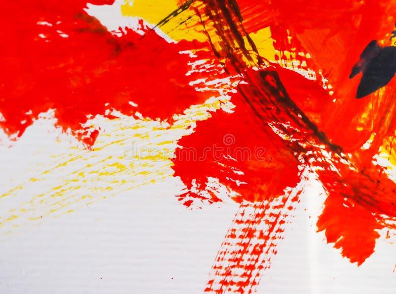 Искусства крася цвет воды предпосылки абстрактный акриловый стоковое изображение