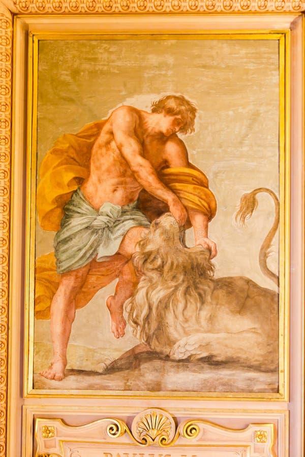 Искусства ренессанса на музее Ватикана стоковое фото rf