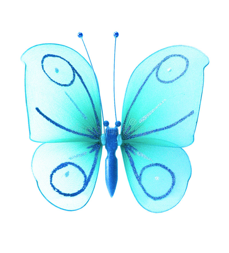 искусственная голубая бабочка стоковые изображения rf