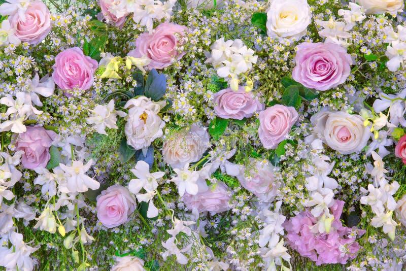 Искусственная красочная текстура предпосылки цветков стоковое изображение rf