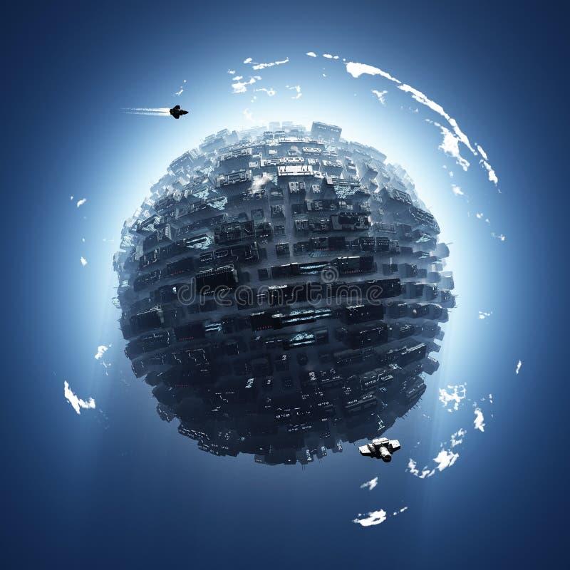 искусственная планета стоковое изображение rf