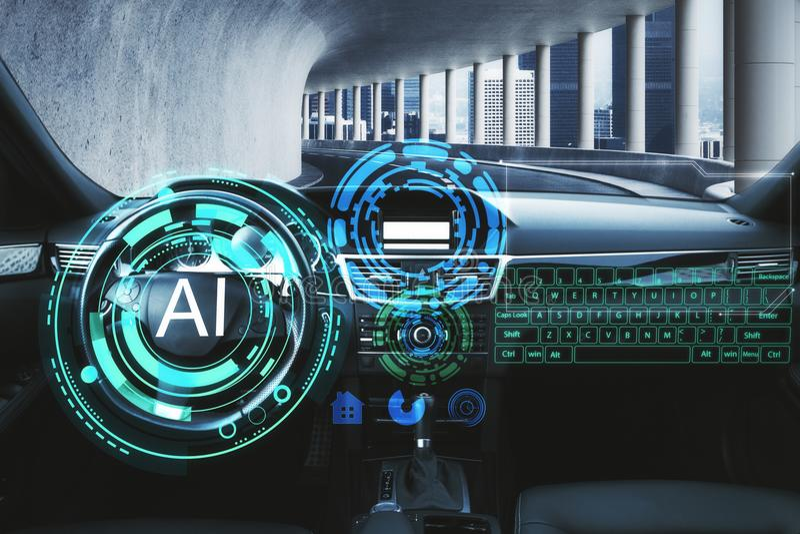 Искусственный интеллект и концепция технологии стоковые изображения rf