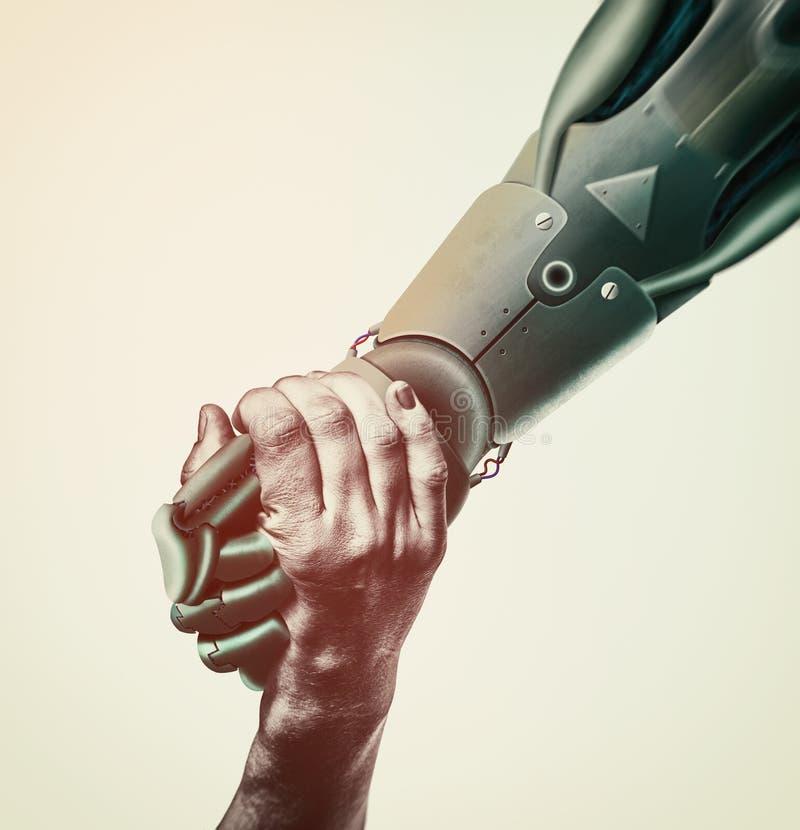 Искусственный интеллект, концепция будущего стоковая фотография rf