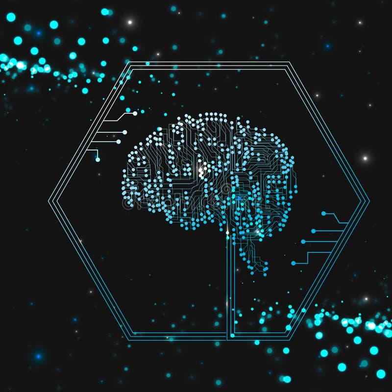 Искусственный разум мозга бесплатная иллюстрация