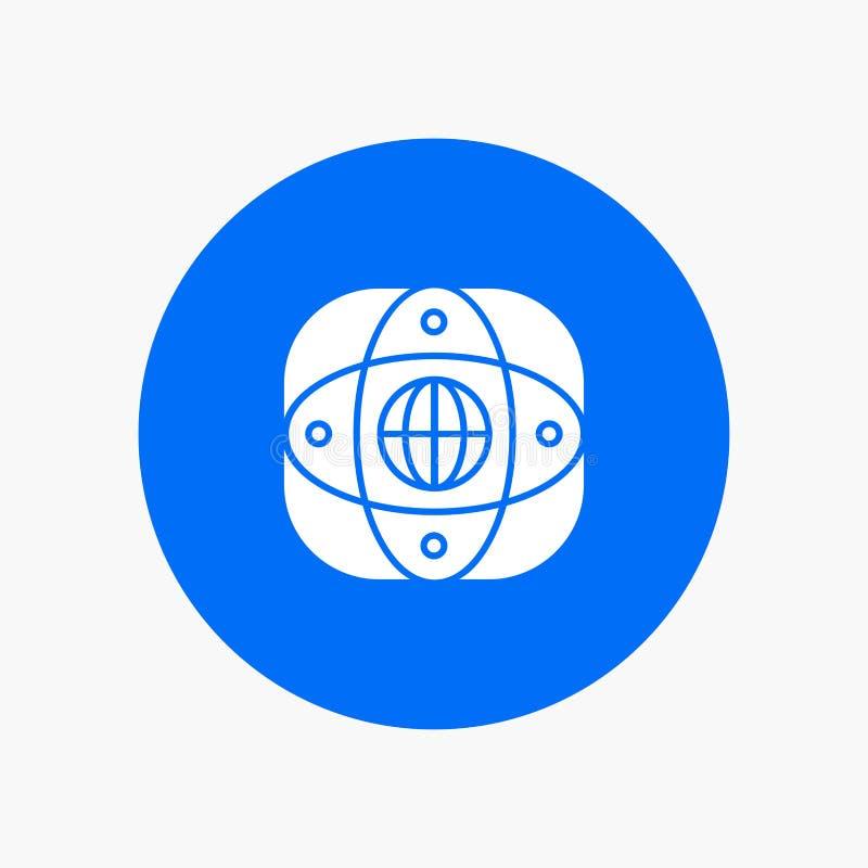 Искусственный, соединение, земля, глобальная, глобус иллюстрация вектора