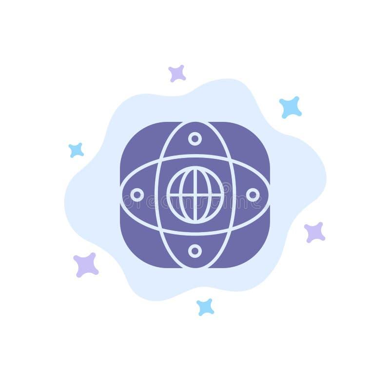 Искусственный, соединение, земля, глобальная, значок глобуса голубой на абстрактной предпосылке облака бесплатная иллюстрация