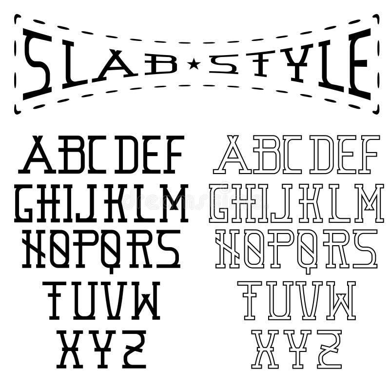 искусство алфавита стиля иллюстрация вектора