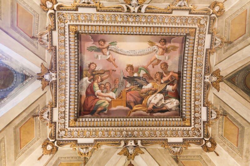 Искусство базилики St Peter, Ватикана стоковое изображение