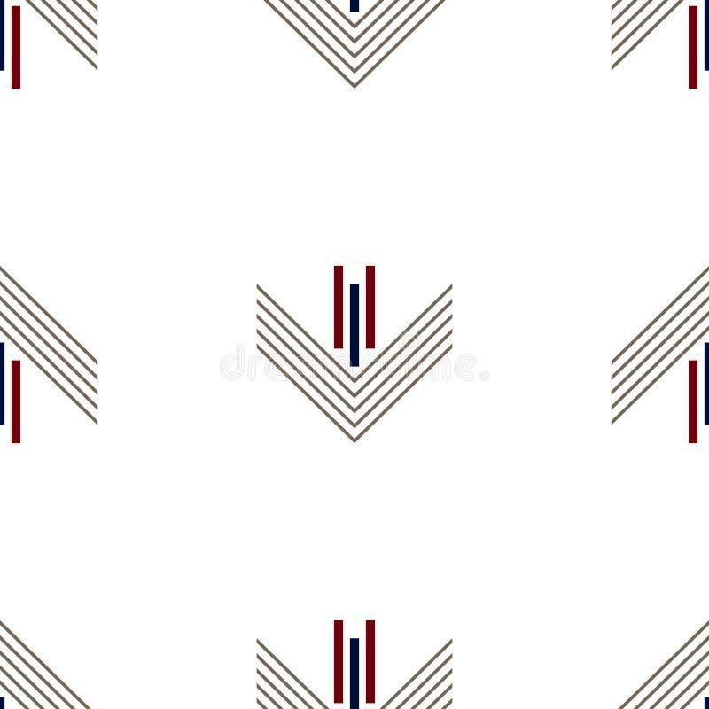 Искусство безшовной геометрической предпосылки вектора картины красочное с линиями прямоугольниками и синью военно-морского флота бесплатная иллюстрация