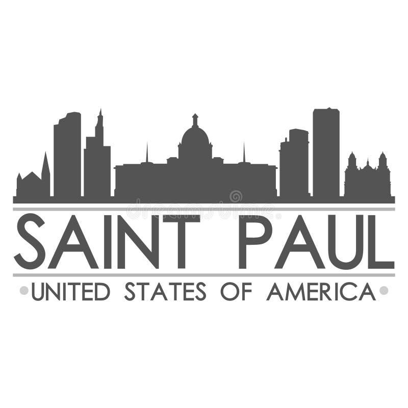 Искусство вектора города дизайна символа горизонта St Paul иллюстрация штока