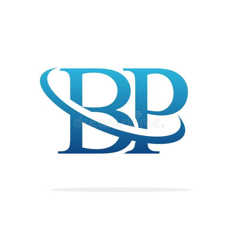 Искусство вектора дизайна логотипа BP творческое иллюстрация вектора