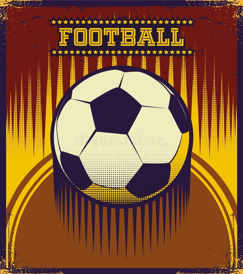 Искусство вектора стиля футбола ретро бесплатная иллюстрация