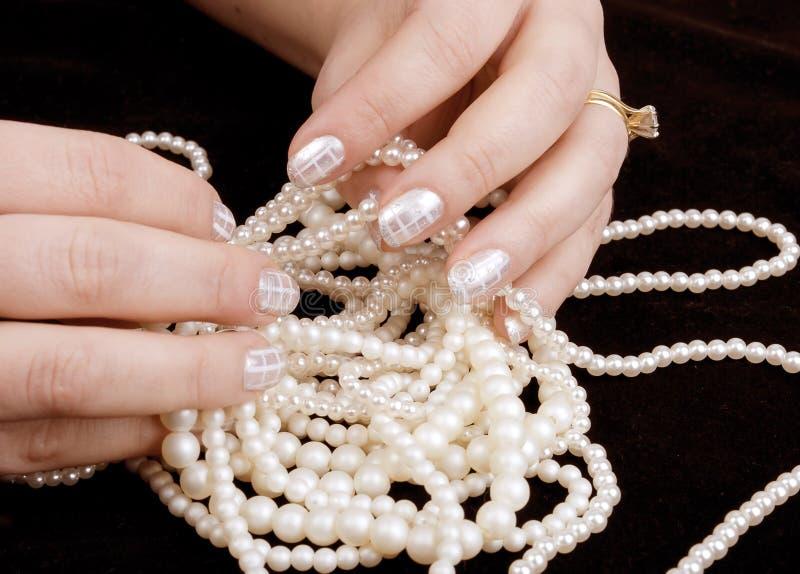 искусство вручает профессионала manicure стоковые фотографии rf