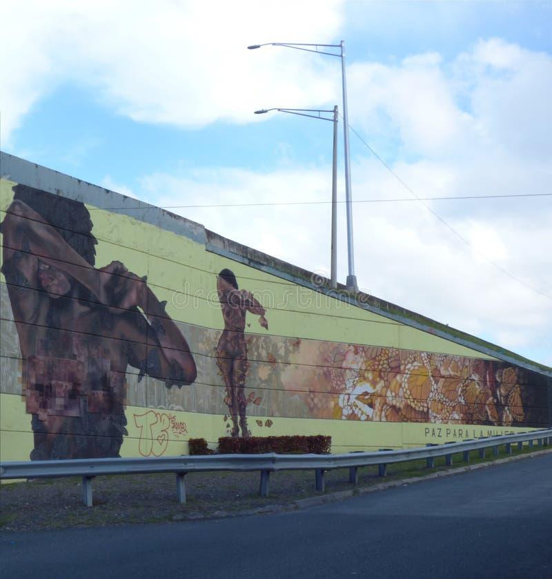 Искусство граффити, стена в Сан-Хуане, Пуэрто-Рико стоковое изображение