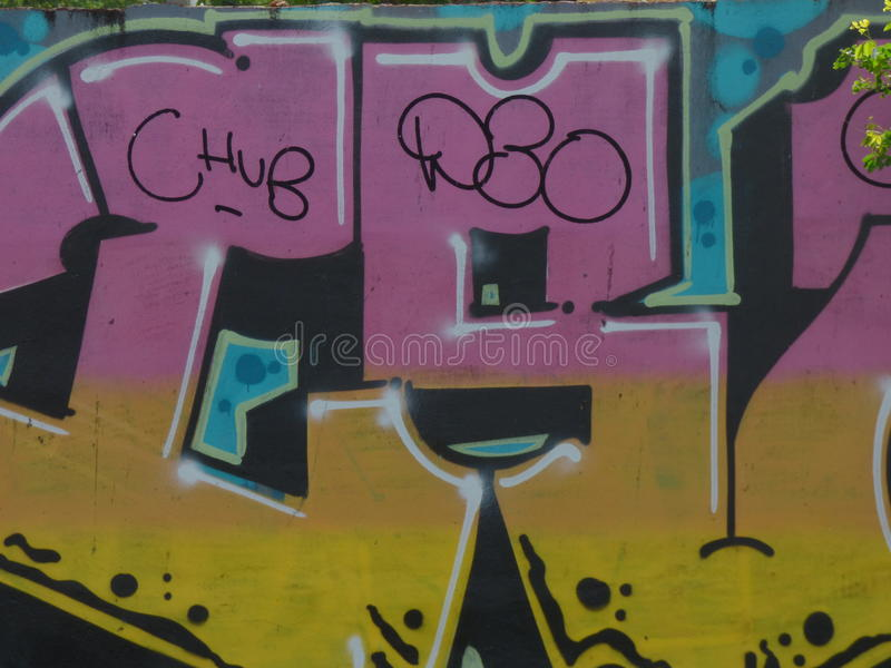 Искусство граффити, стена в Сан-Хуане, Пуэрто-Рико стоковые фотографии rf