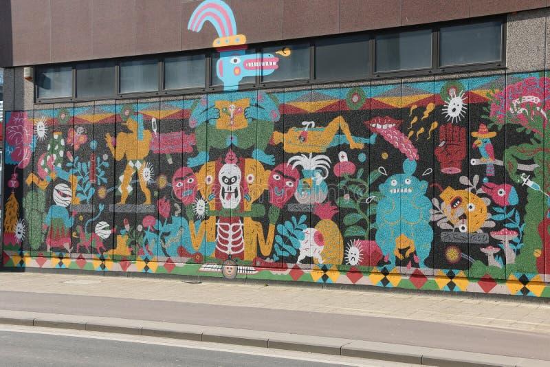 Искусство/граффити улицы стоковое изображение rf