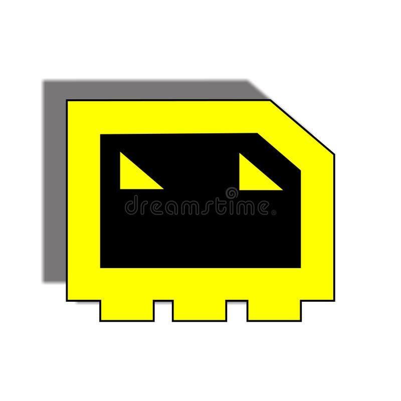 Искусство дизайна логотипа черепа стоковые фотографии rf