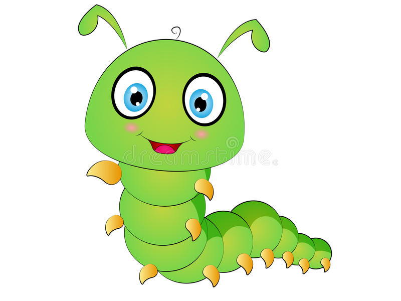 Искусство зажима гусеницы шаржа иллюстрация вектора