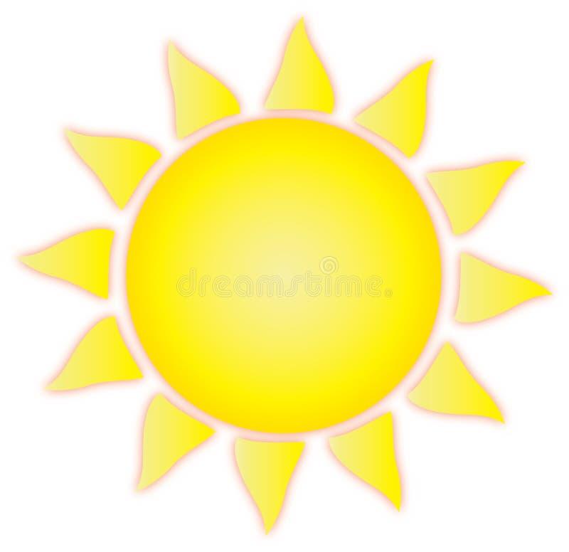 Искусство зажима Солнця лета иллюстрация вектора