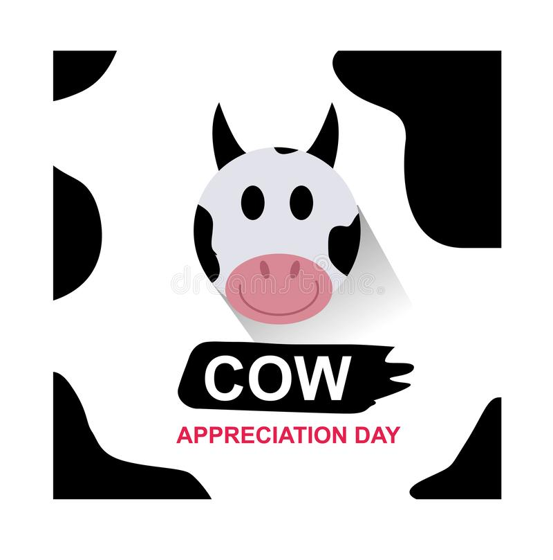 Искусство иллюстрации дня благодарности коровы иллюстрация вектора