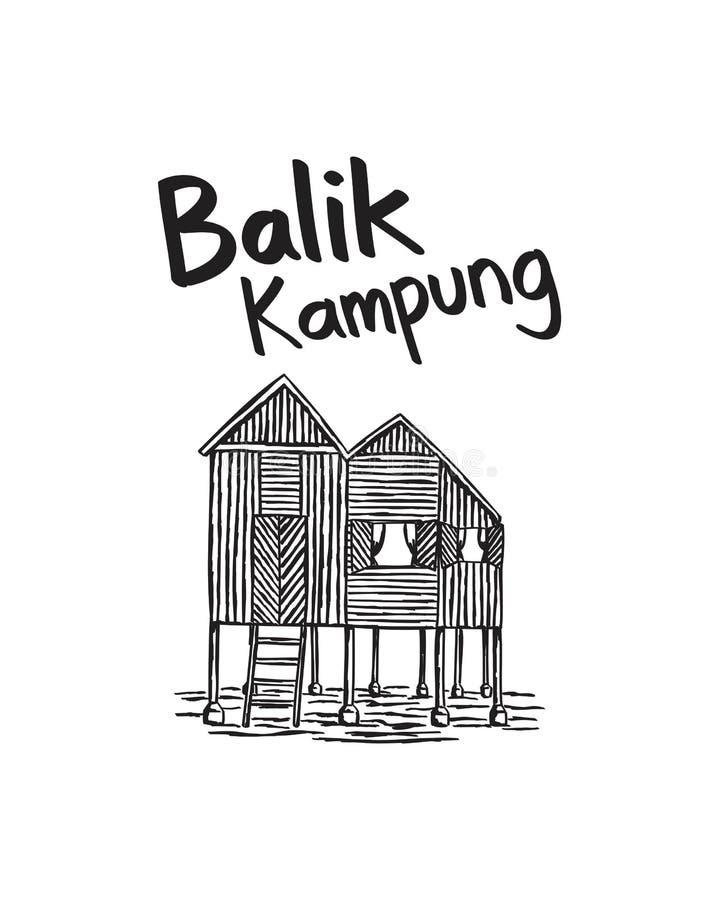 Искусство иллюстрации родного города Малайзии стоковые фотографии rf