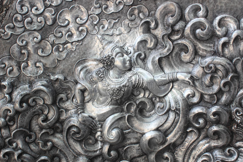 Искусство и картина высекать silverware стоковая фотография