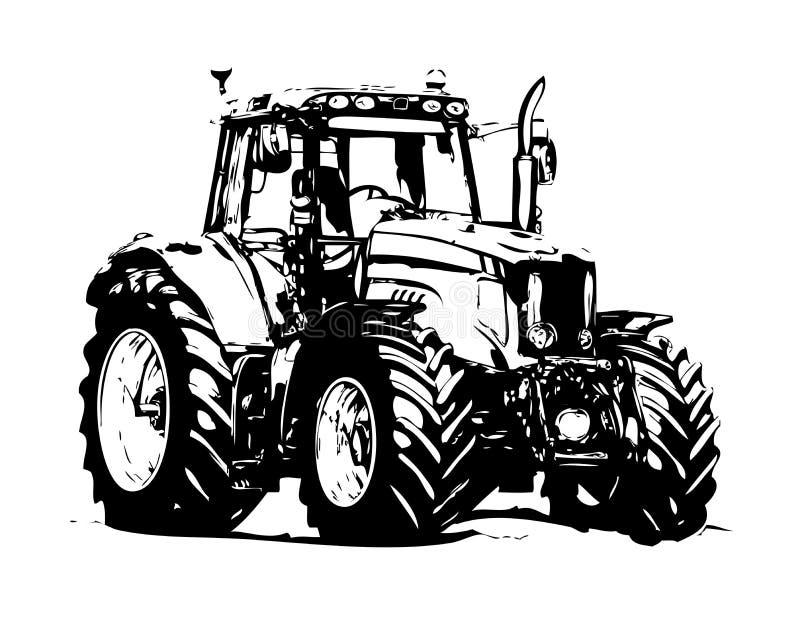 Искусство иллюстрации аграрного трактора стоковое изображение