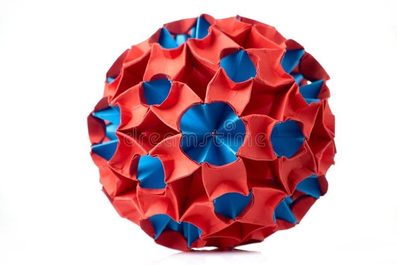 Искусство красной и голубой бумаги стоковые фотографии rf