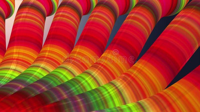 Искусство красочное крутое славное красивое 3D красочной предпосылки иллюстрации трубок труб новое качественное представляя худож иллюстрация штока